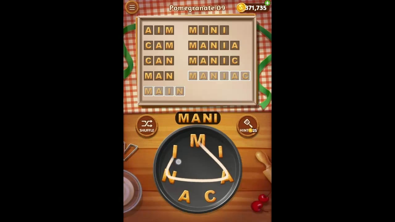 Word Cookies Pomegranate Pack Level 9 Answers