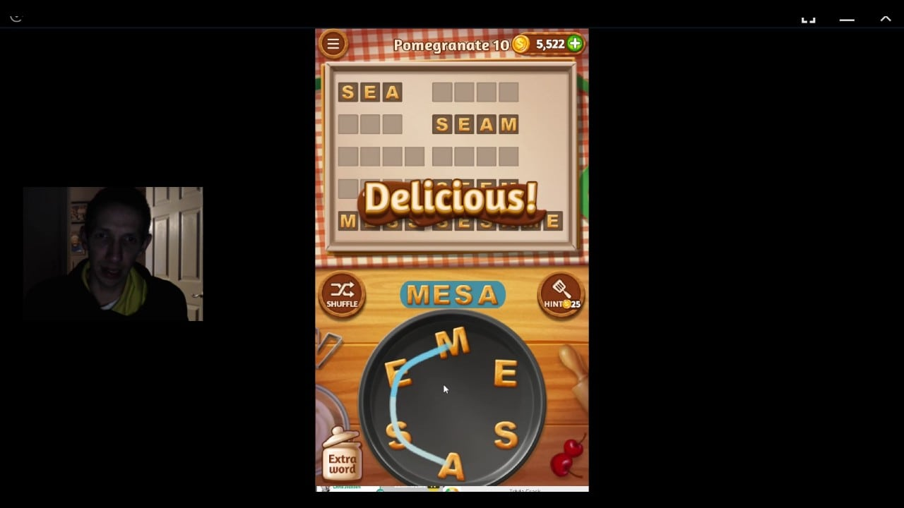 Word Cookies, Star Chef, Pomegranate Level 10