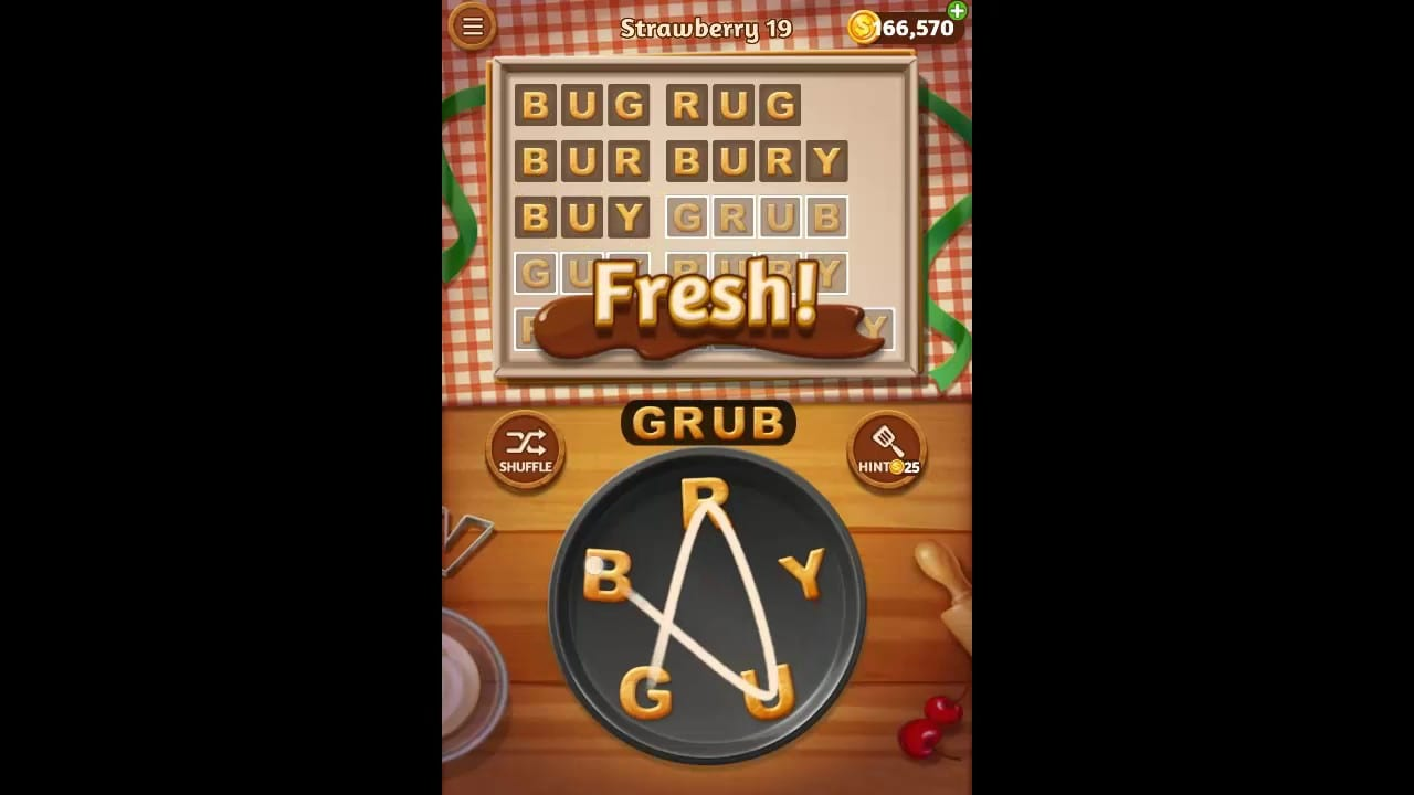 Word Cookies Strawberry Pack Level 19 Answers