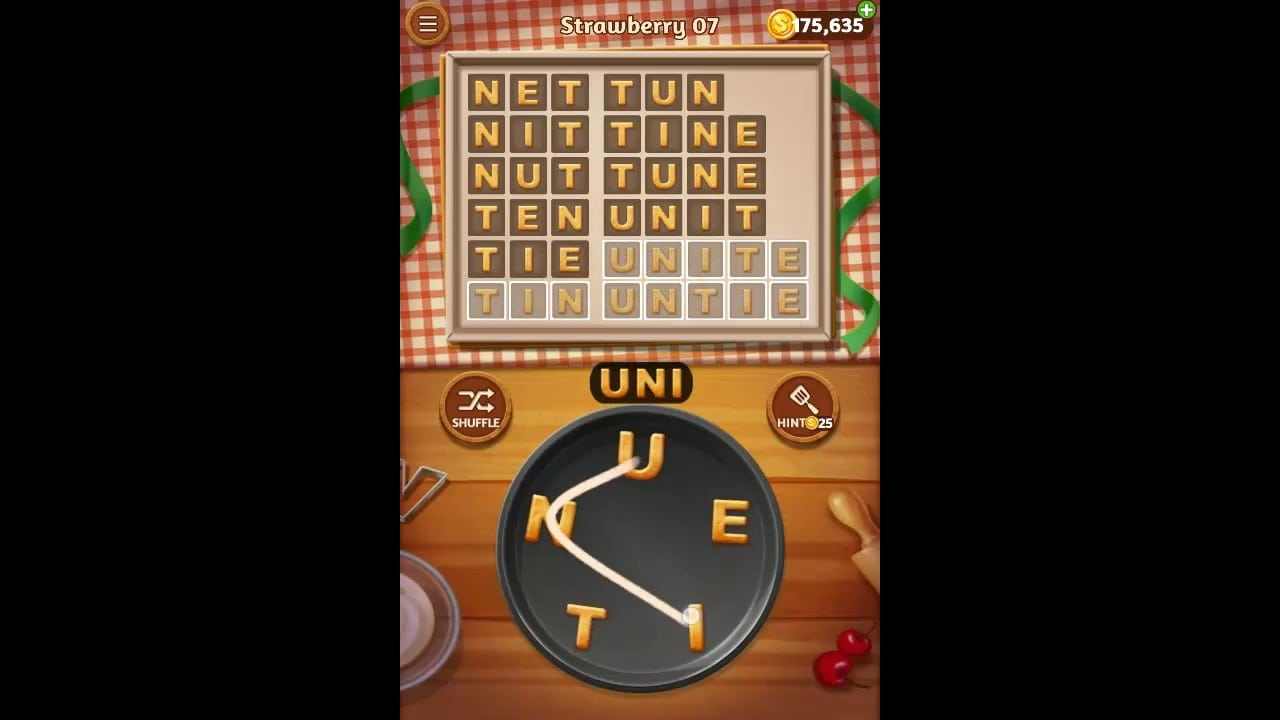 Word Cookies Strawberry Pack Level 7 Answers