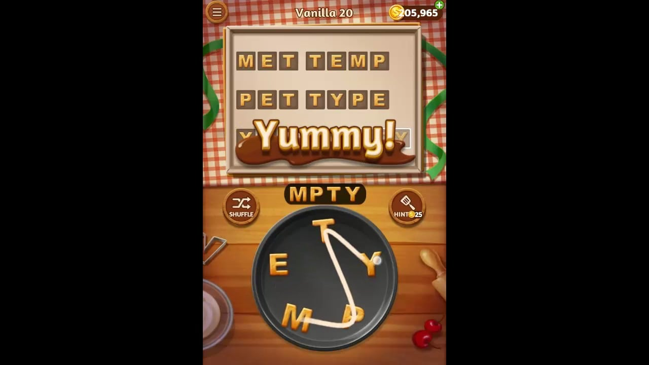 Word Cookies Vanilla Pack Level 20 Answers