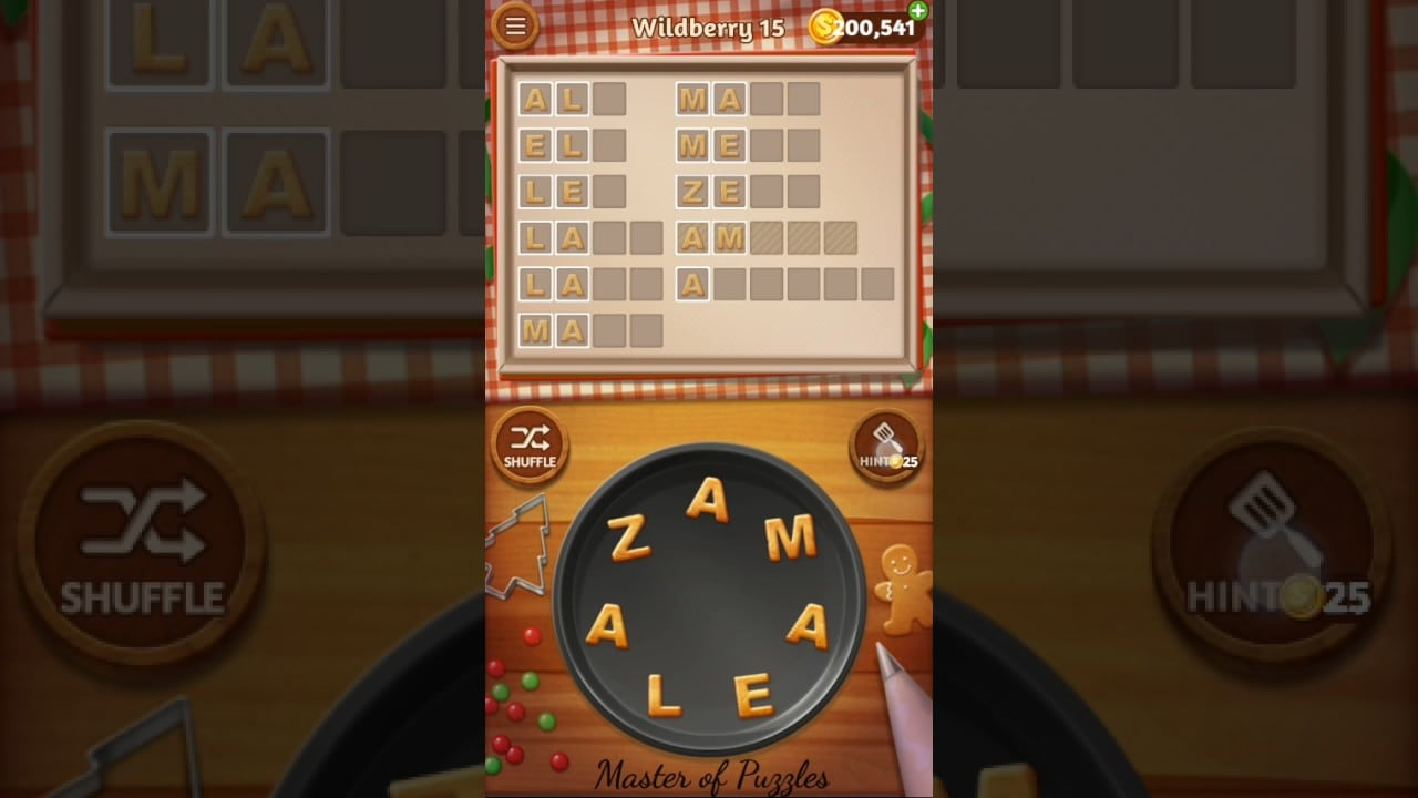 Word Cookies Wildberry Level 15 Celebrity Chef Solved