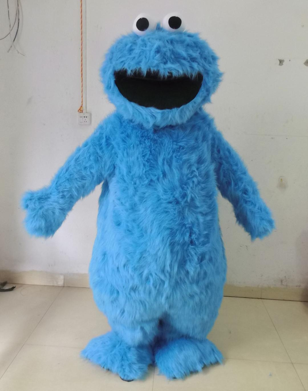 0524 Adult Cookie Monster Mascot Costume With Mini Fan Inside The