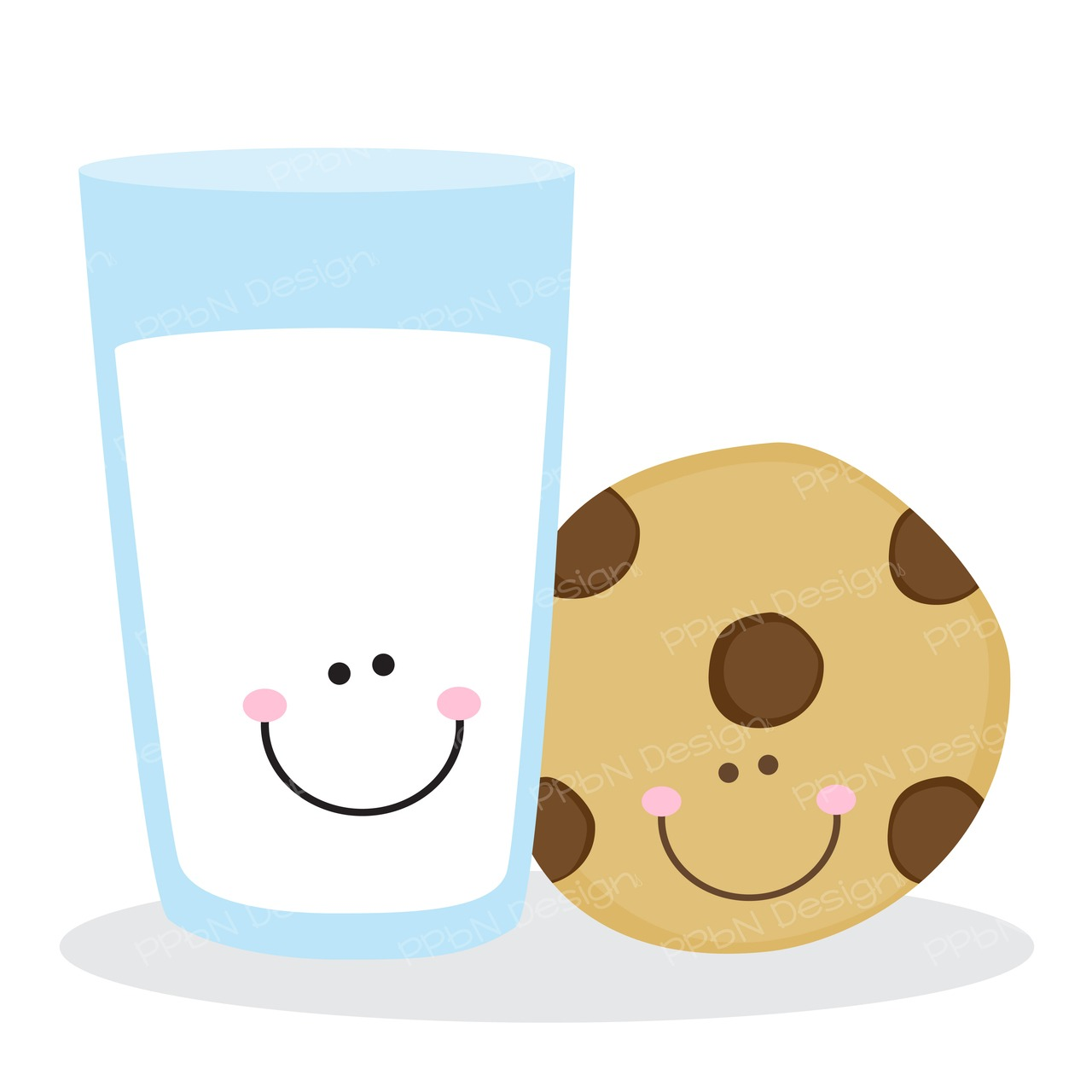 Cute Milk And Cookies Clipart