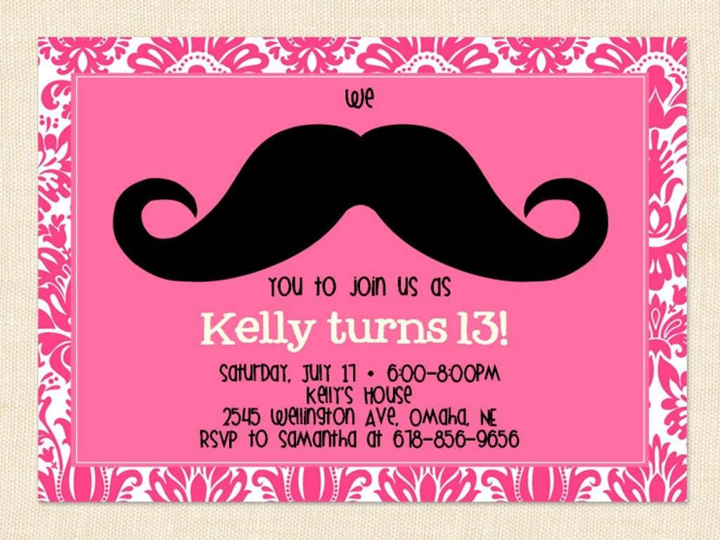 13th Birthday Party Invitations 13th Birthday Party Invitations