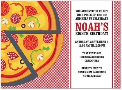 Blank Pizza Party Invitation