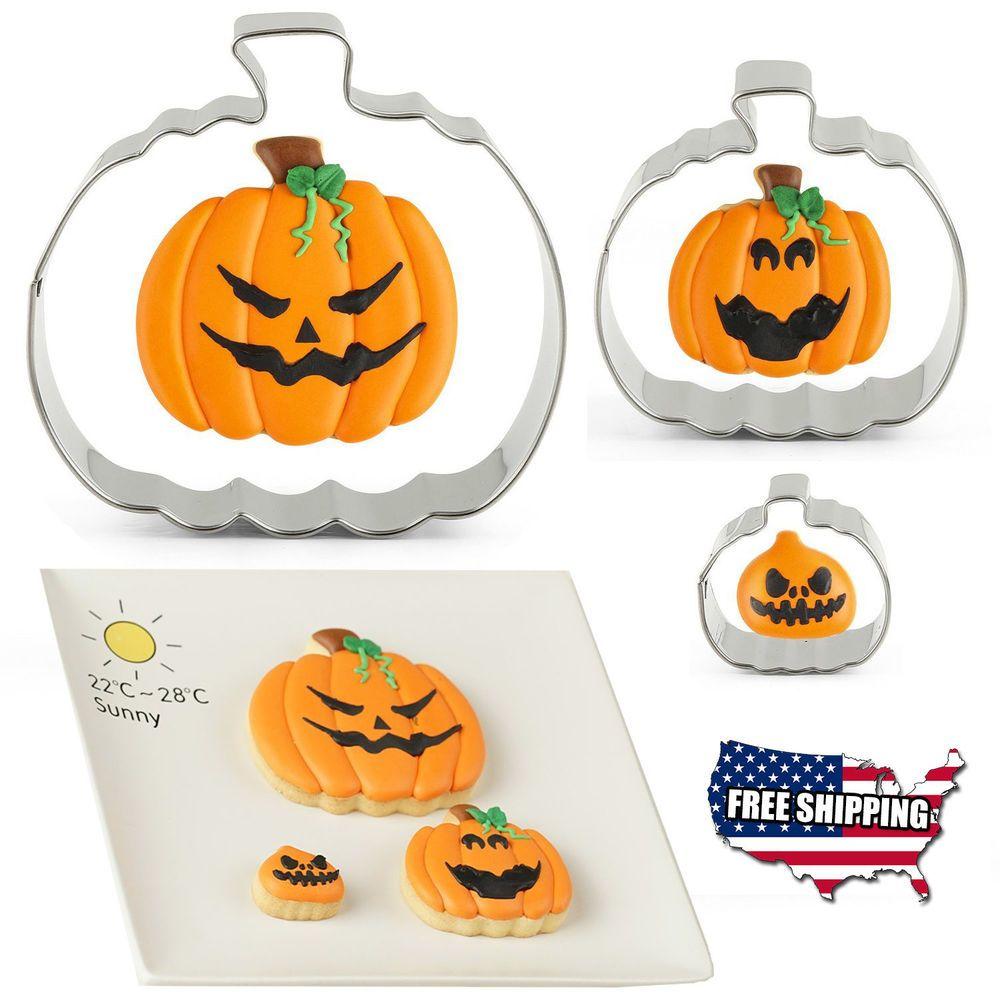 New Halloween Pumpkin Cookie Cutter Set Metal Harvest Thanksgiving