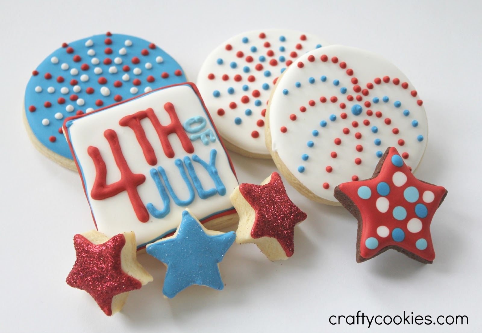 Crafty Cookies  Round 2  Fourth Of July Cookies