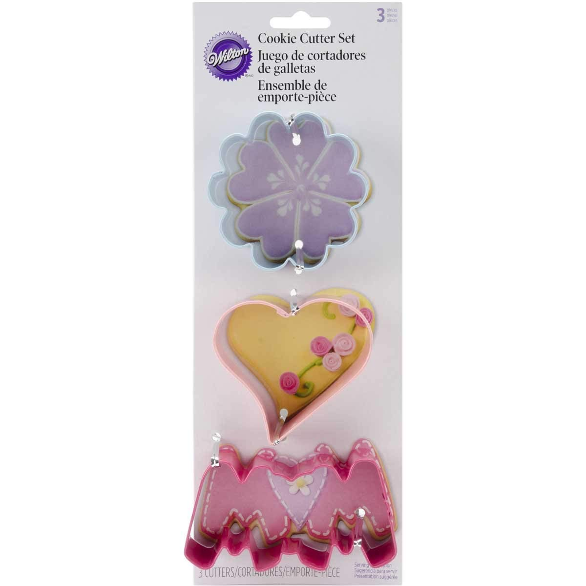 Amazon Com  Wilton Mother's Day Cookie Cutter Set, 3