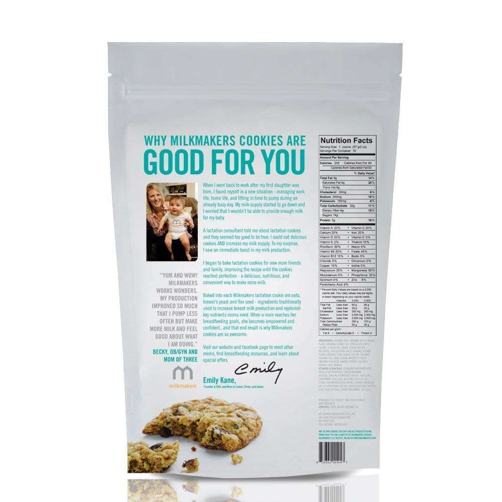 Amazon Com  Milkmakers Oatmeal Chocolate Chip Lactation Cookies