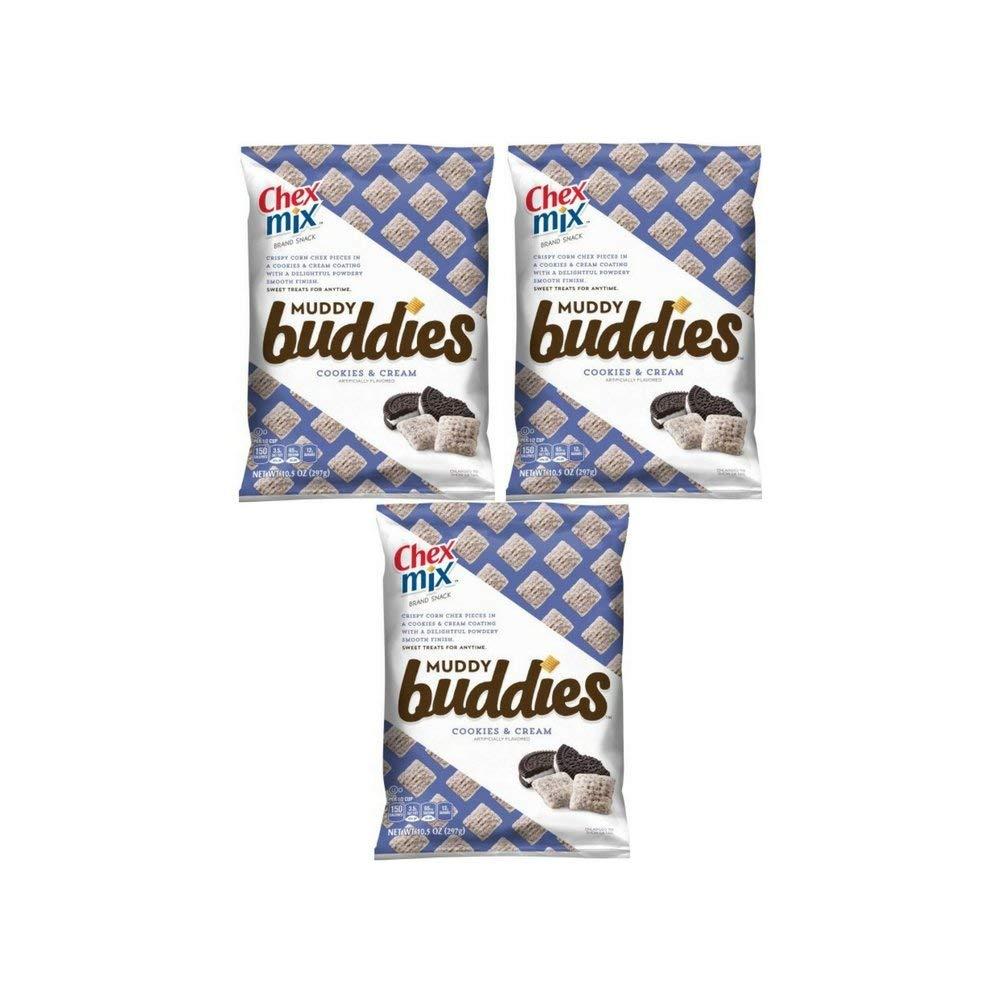 Amazon Com  Chex Muddy Buddies Snack Mix, Cookies Cream, 10 5 Ounce
