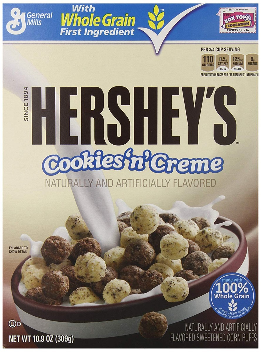 Hershey's Cookies And Creme Puff Cereal  Amazon Co Uk  Grocery