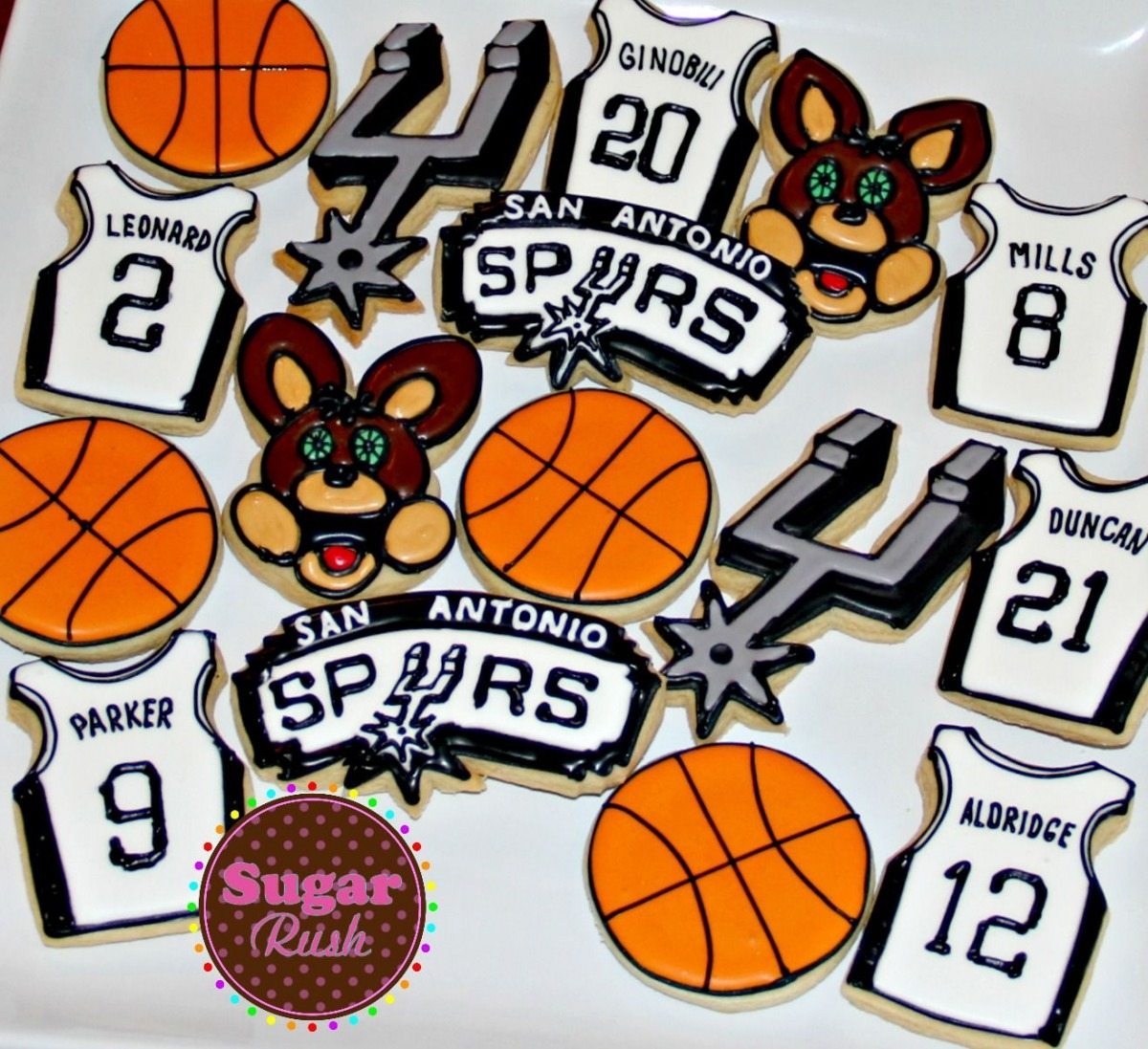San Antonio Spurs Basketball Sugar Cookies  Decoratedcookies  Gsg