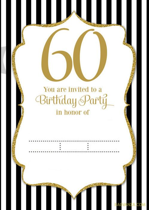 Aabafeccbac Amazing 60th Birthday Party Invitations Free Templates