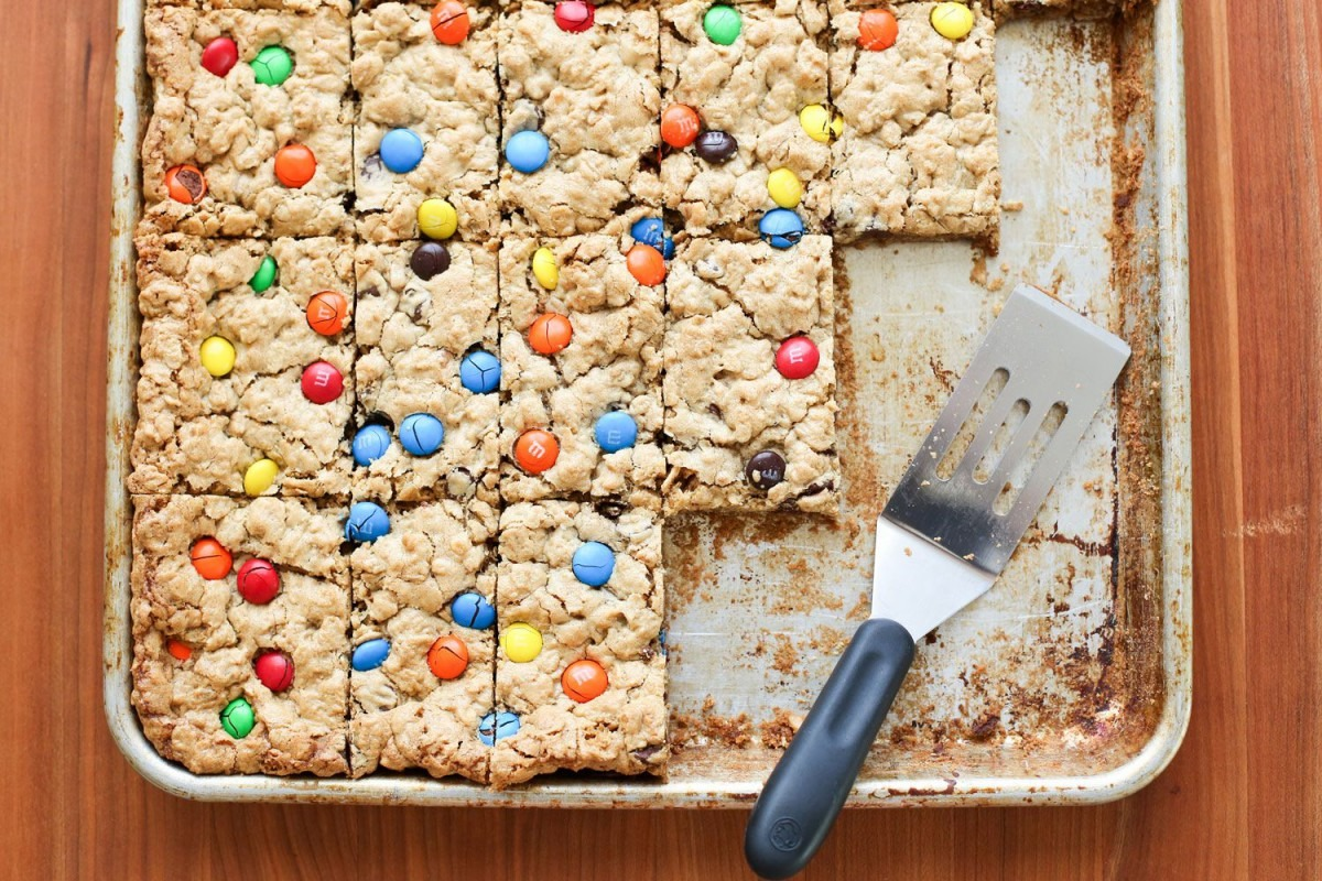Easy Monster Cookie Bars (naturally Gluten Free) Recipe By