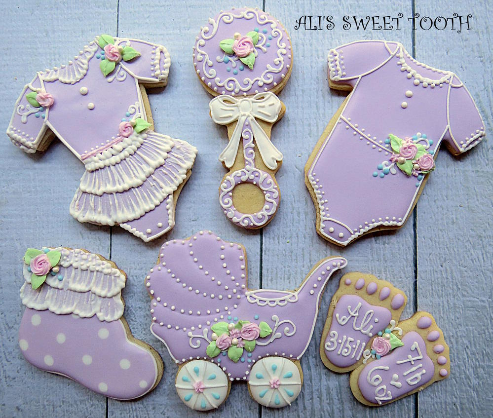 Ali's Sweet Tooth Baby Shower Cookies