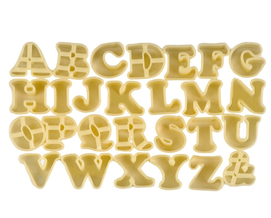 Curly Alphabet Cookie Cutters
