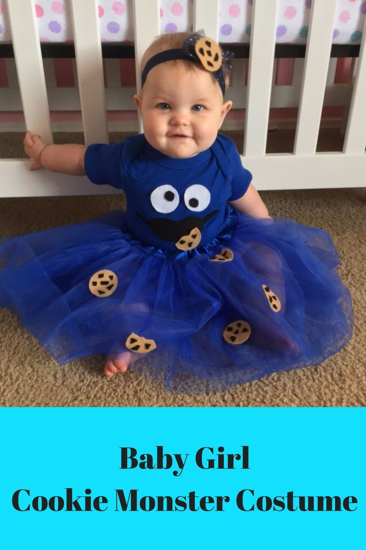 Adorable Baby Cookie Monster Costume  Perfect For Halloween Or A