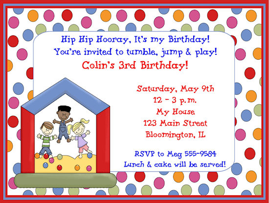 Birthday In Cute Birthday Invitation Card Kids