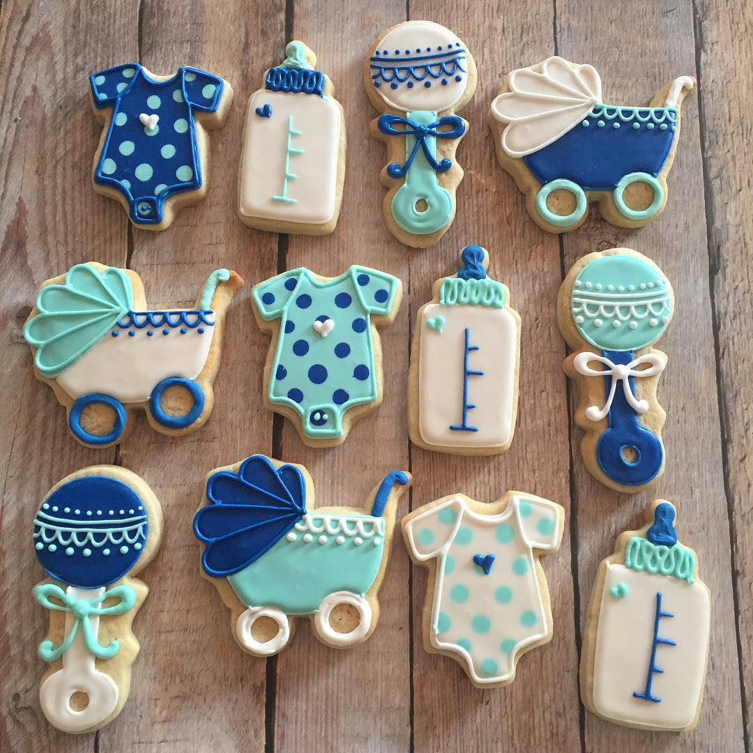 Classic Boy Baby Shower Cookies