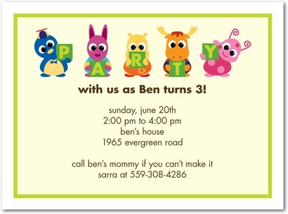 Invitation Ideas  Kids Party Invitation Wording