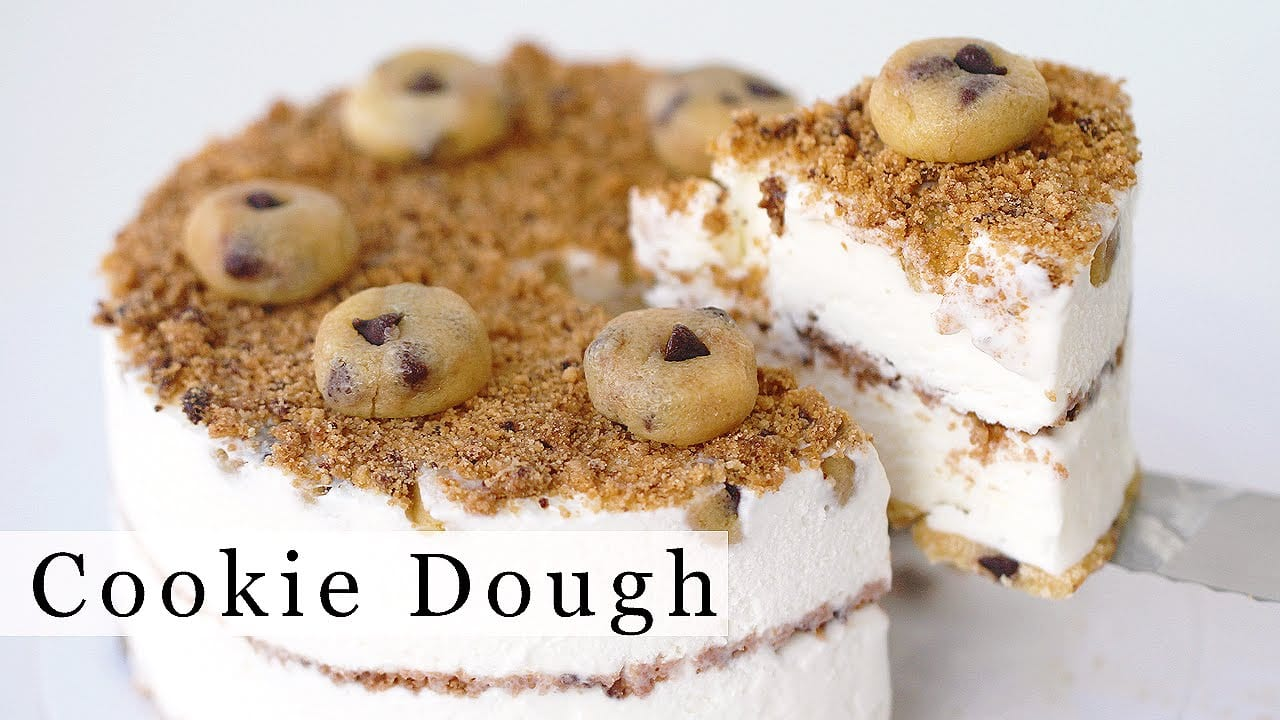Chocolate Chip Cookie Dough Ice Cream Cake Recipe 아이스크림 케잌