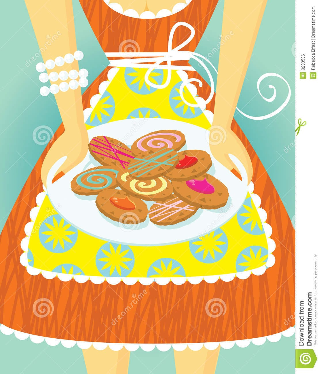 Cookie Mama Stock Vector  Illustration Of Cartoon, Cookies