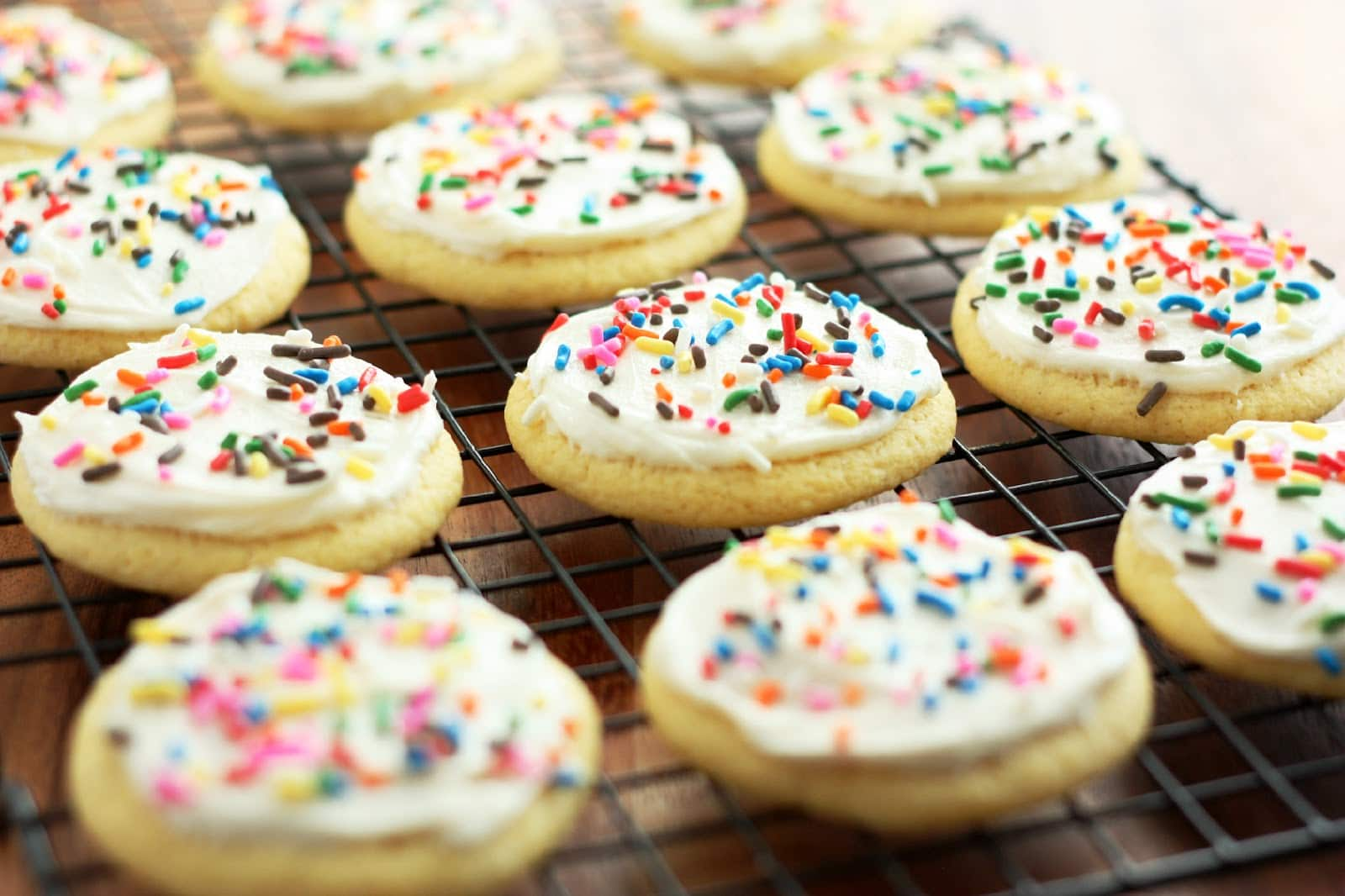 Cornbread Sugar Cookies With Honey Butter Frosting