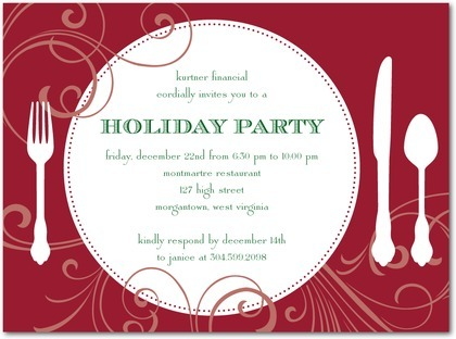 Holiday Work Party Invite