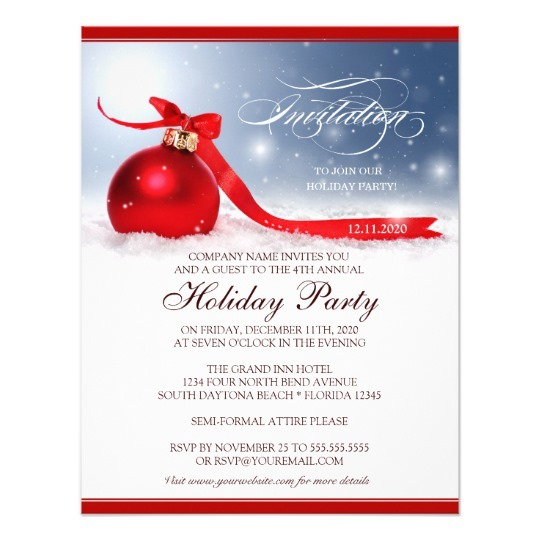 Corporate Holiday Party Invitation Template Unique With Corporate