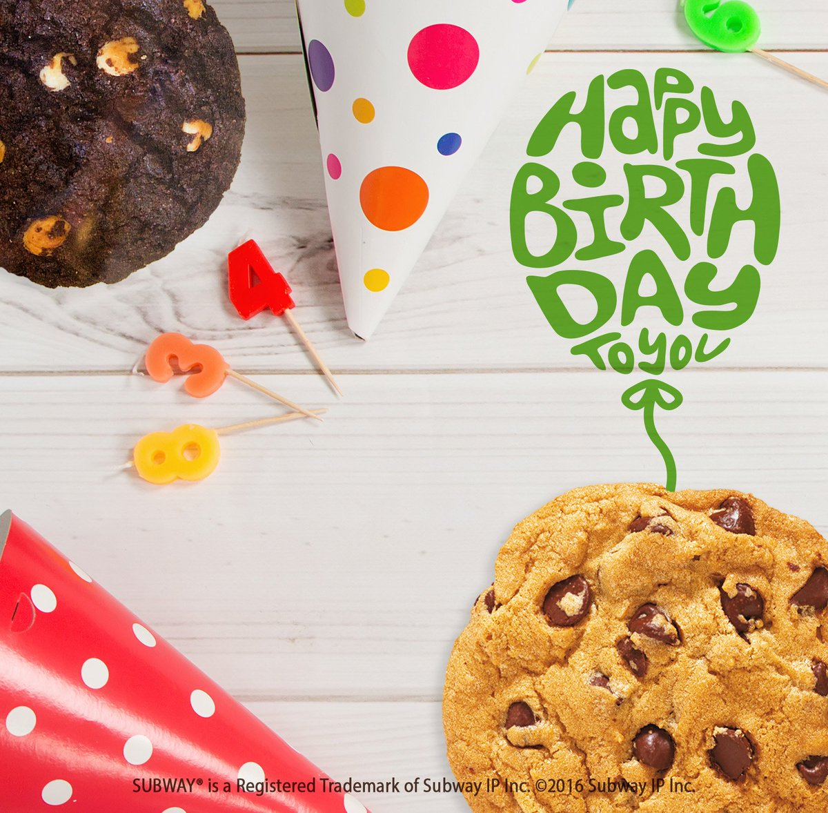Subway® Uk On Twitter   A Birthday Treat That's On Us