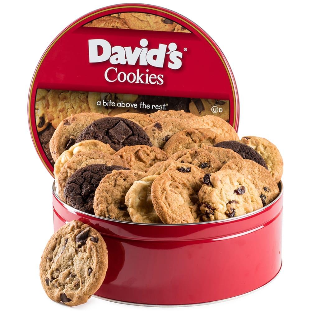 David's Cookies Tin Fresh Baked