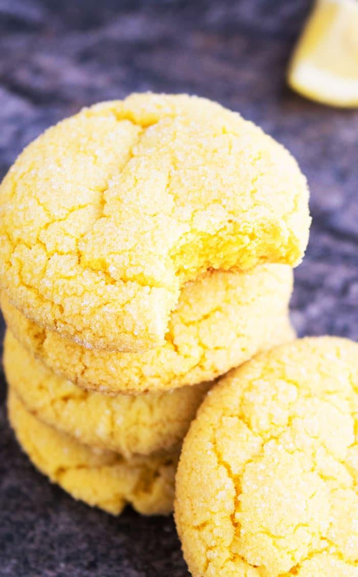 Easy Lemon Cookies {soft + Chewy!}