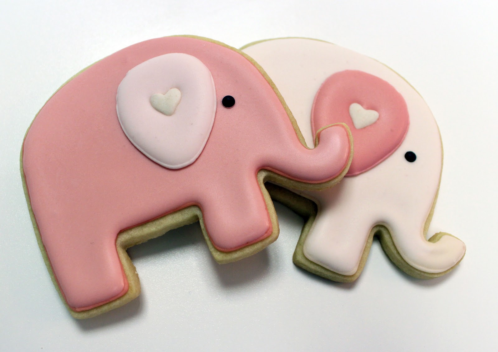 Sugar Mama Cookies  Pink Elephant Cookies For A Baby Shower