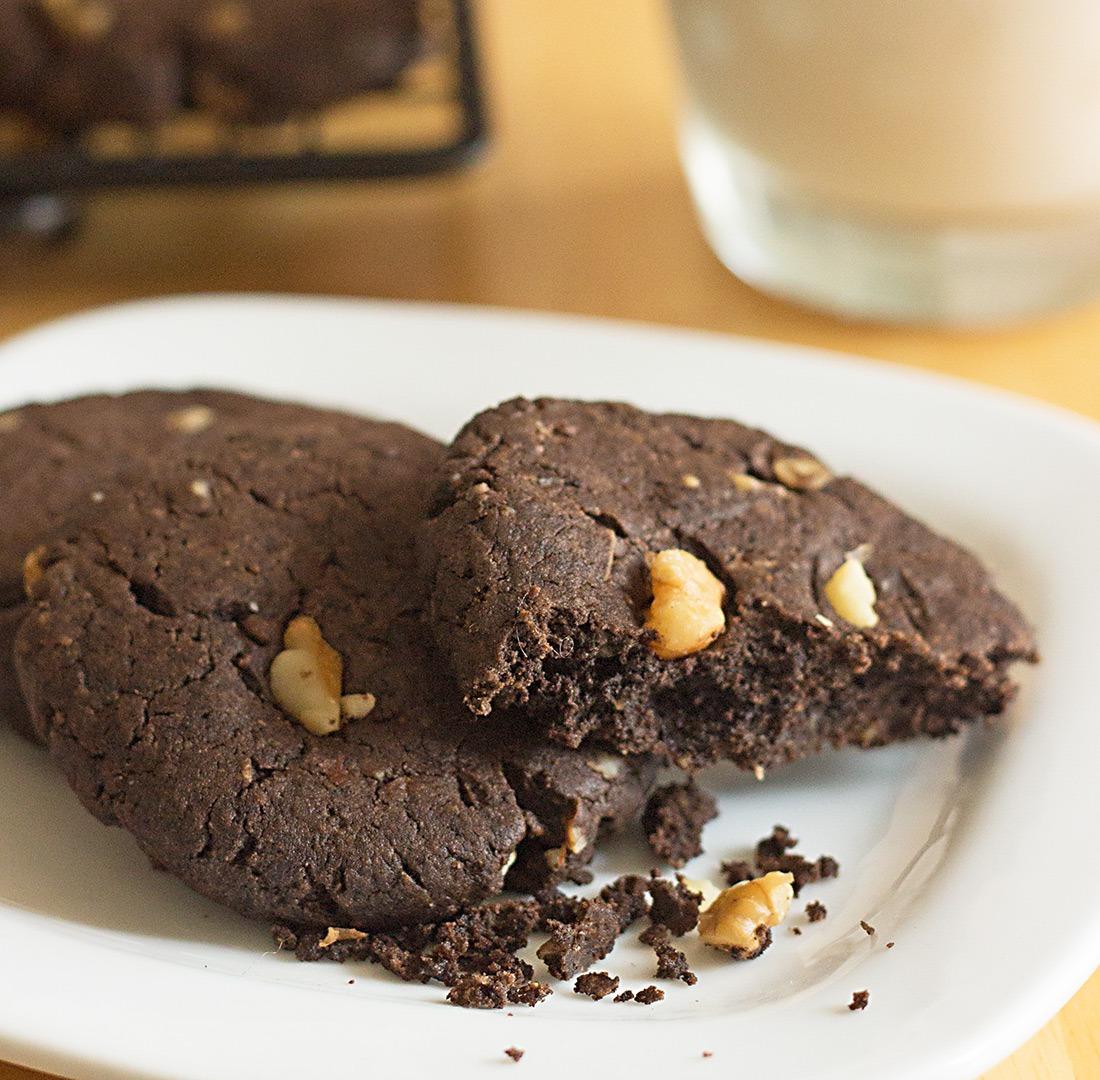 Flourless Peanut Butter Brownie Cookies Recipe