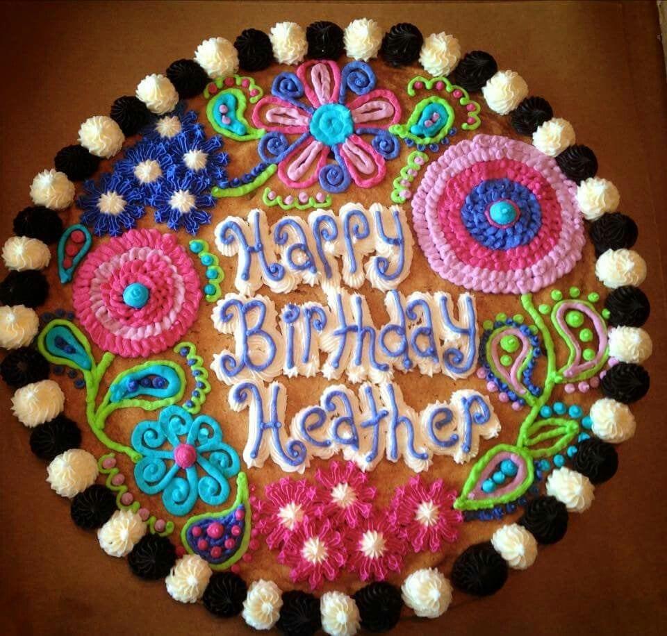 Flower Cookie Cake