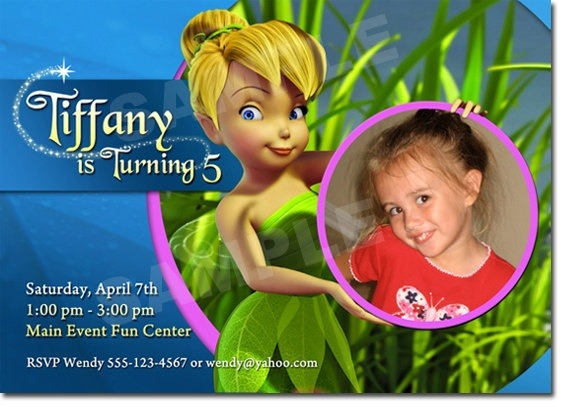 Custom Tinkerbell Invitations