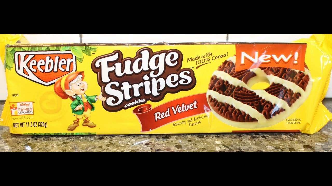 Fudge Stripes Cookies  Red Velvet Review