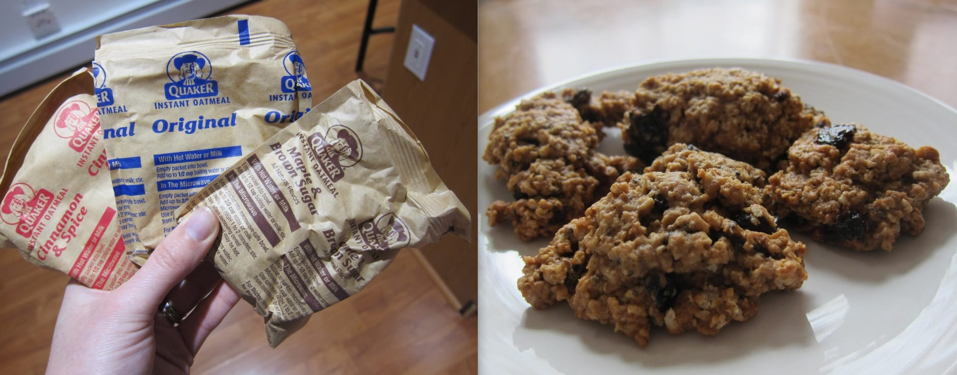 Hearty Oatmeal Cookies Using Instant Oatmeal Packets