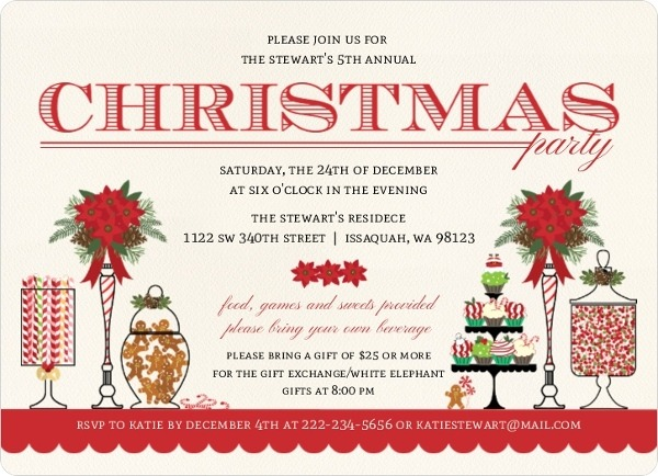Christmas Party Wording