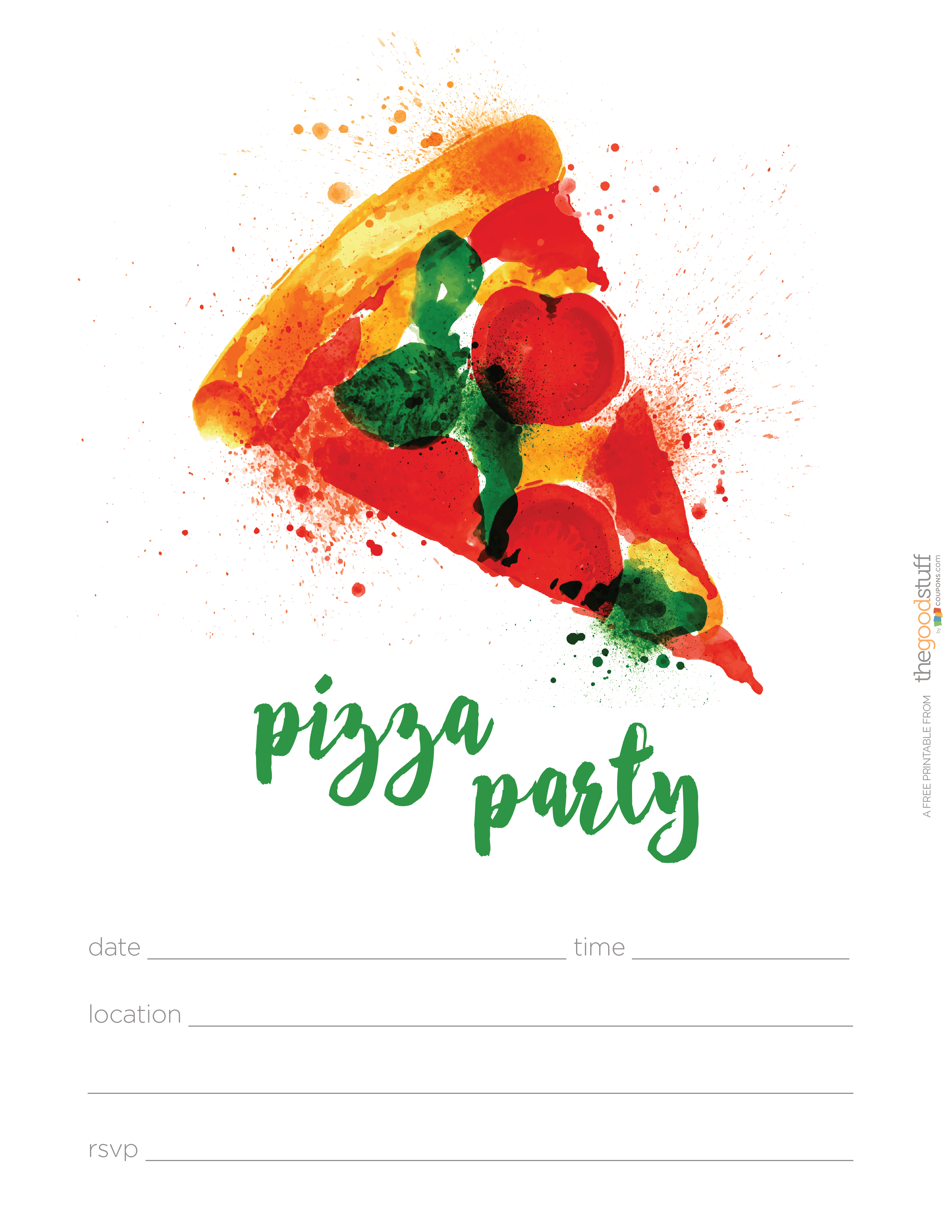 Best Pizza Party Invitations Free