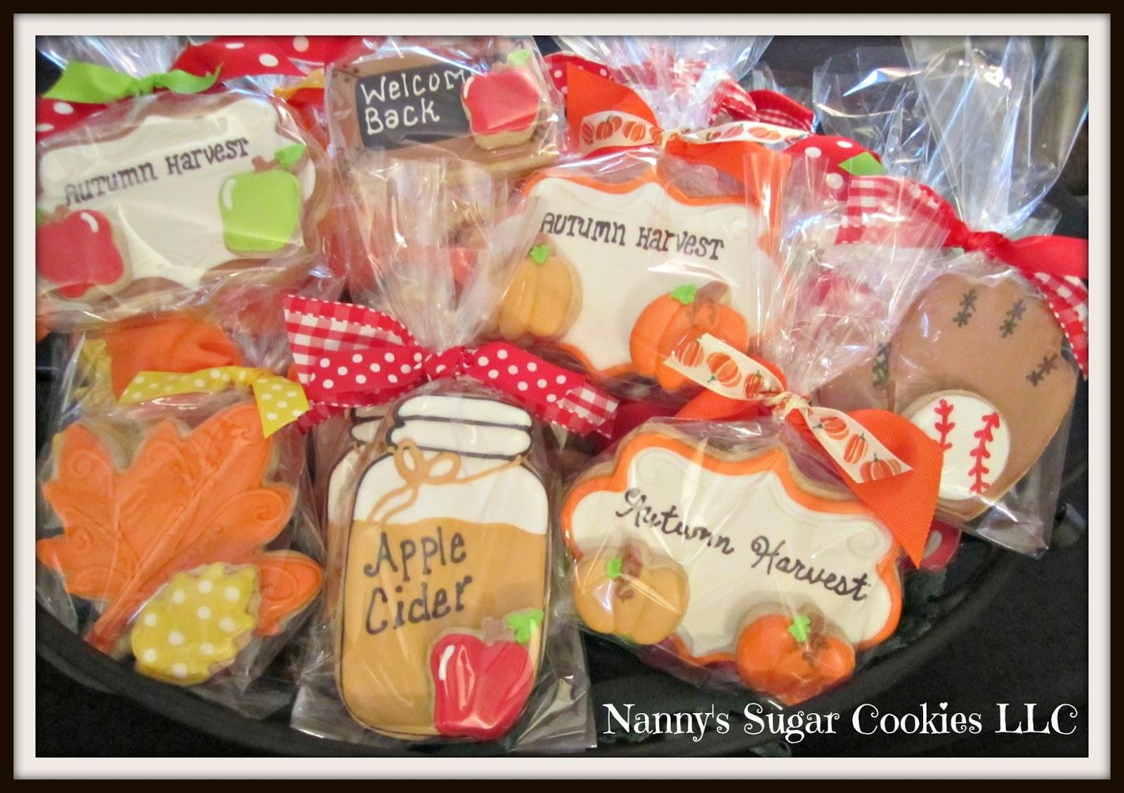 Nanny's Sugar Cookies Llc  Welcome Fall 2015