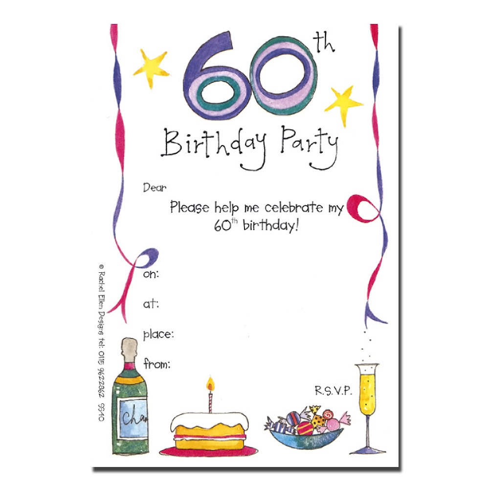 Invitation  Invitation For 60th Birthday Celebration