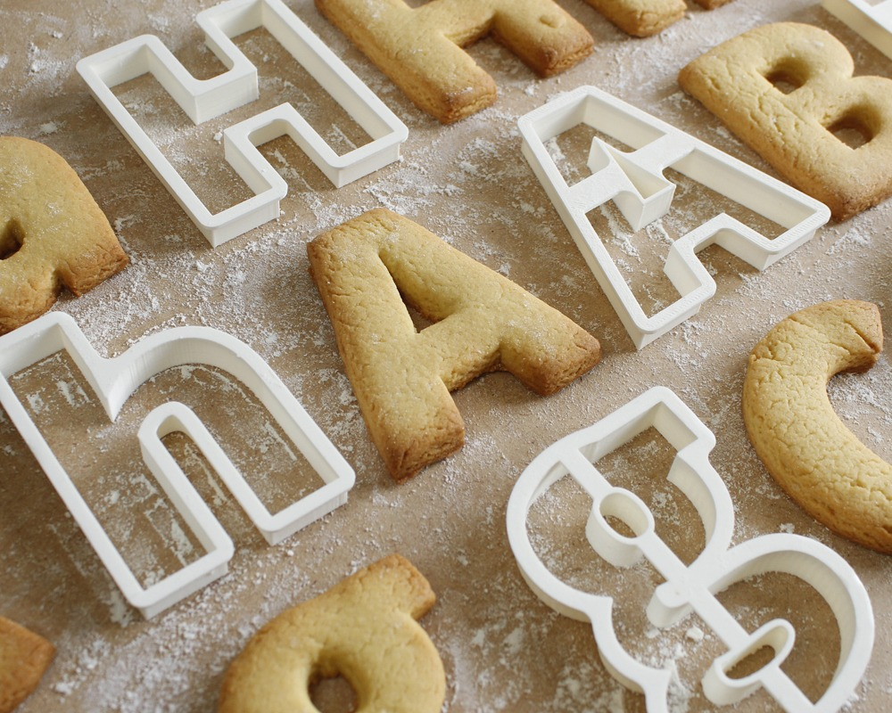 Alphabet Pastry Cutters