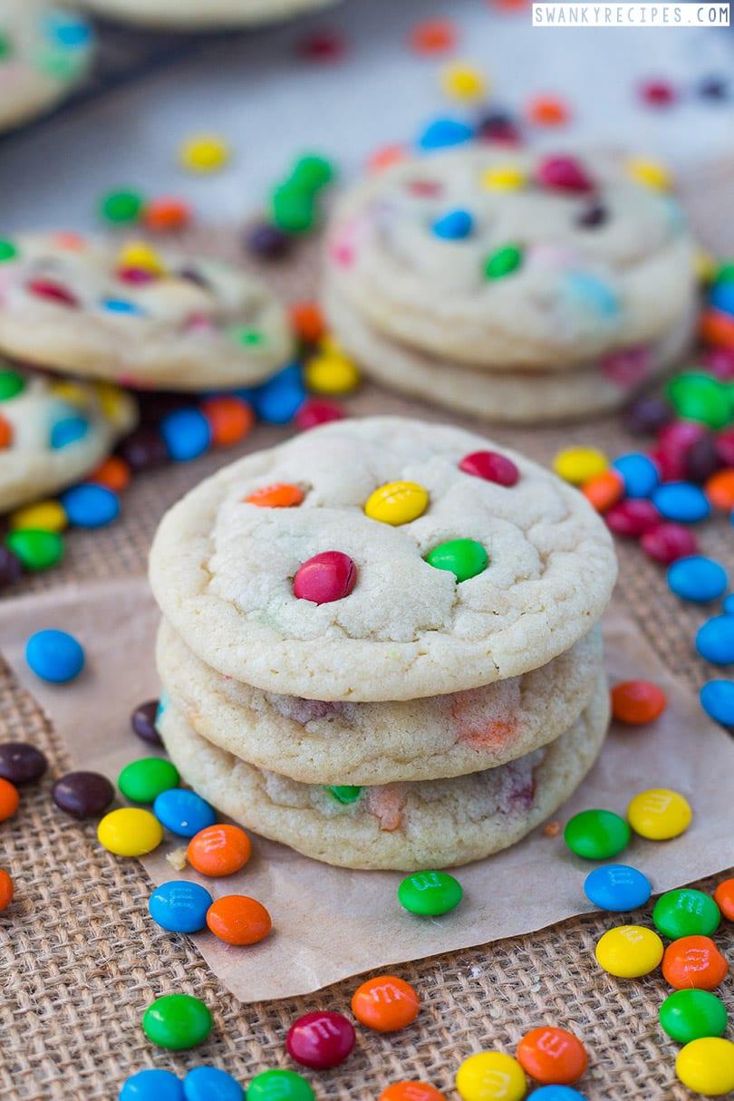 M & M Sugar Cookies