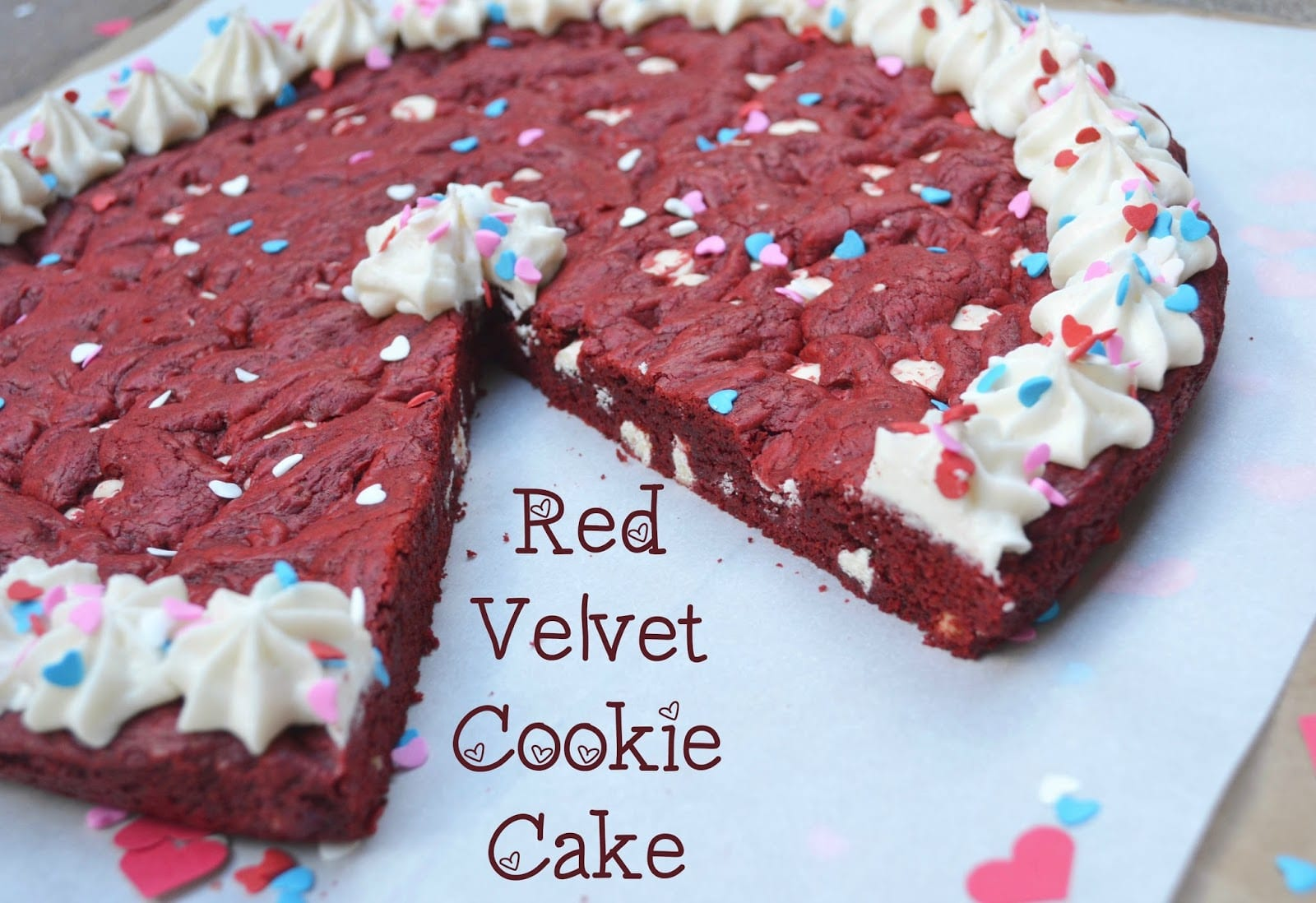 Macke Monologues  Red Velvet Cookie Cake