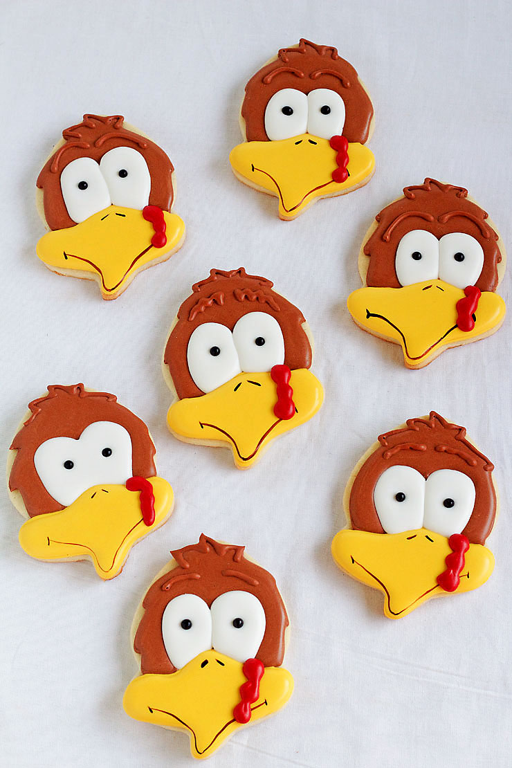 Turkey Cookies With An Acorn Cutter