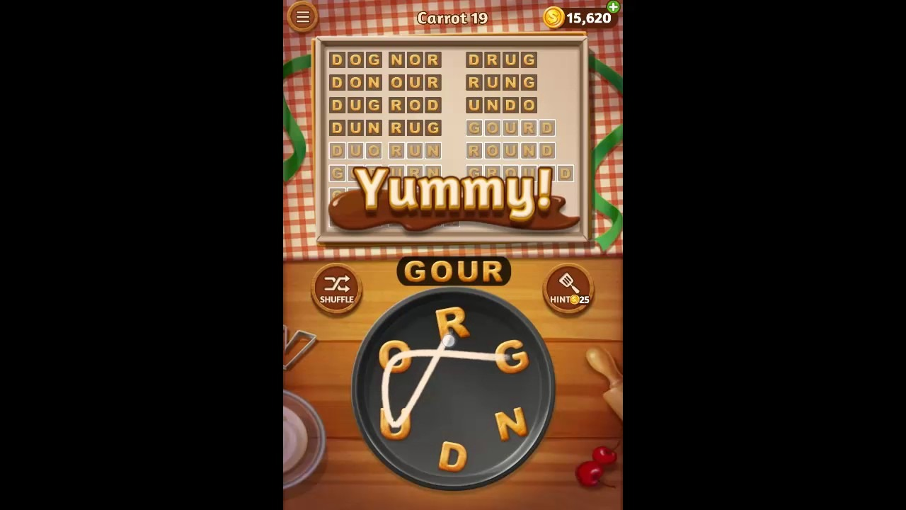 Word Cookies Carrot Pack Level 19 Answers
