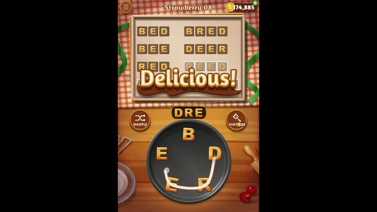 Word Cookies Strawberry Pack Level 8 Answers