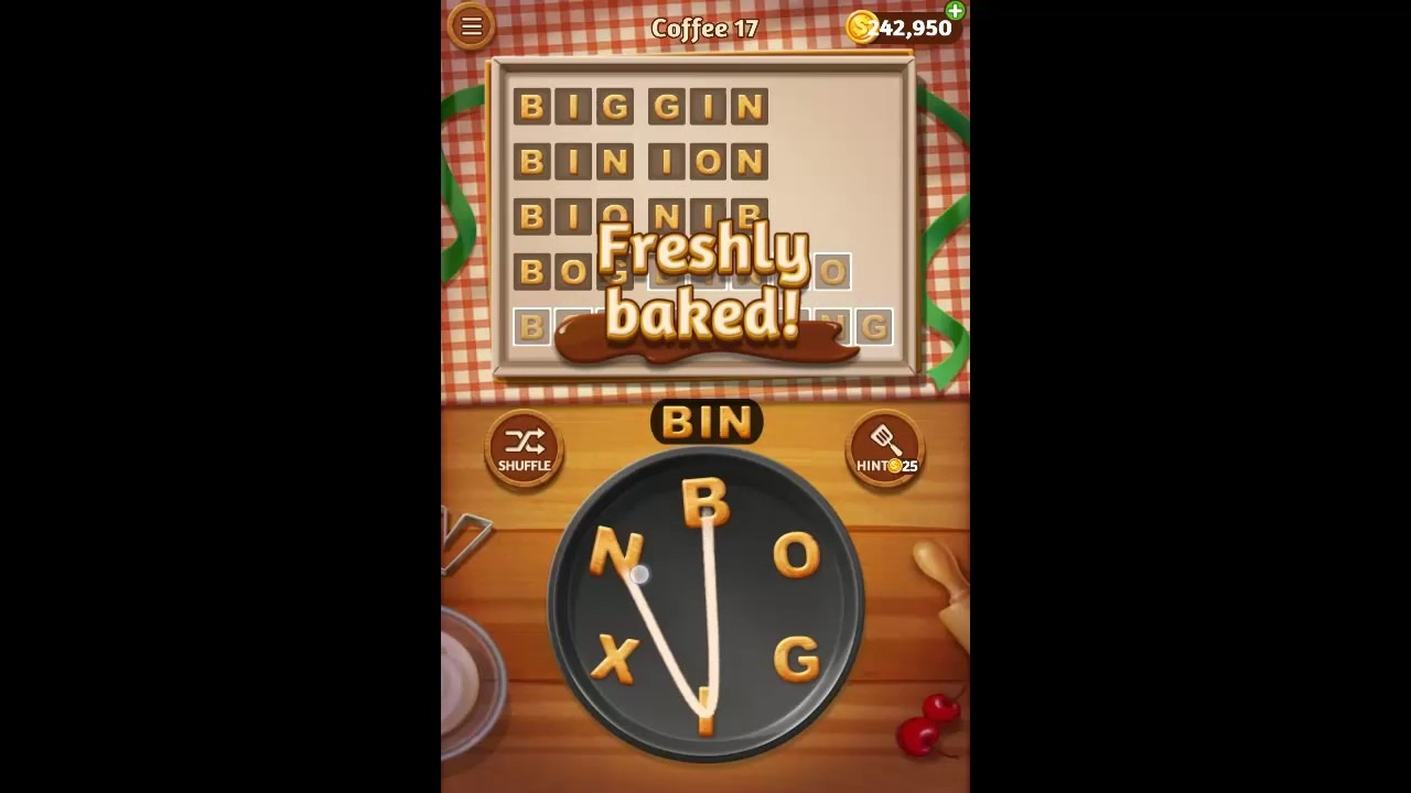Word Cookies Coffee Pack Level 17 Answers